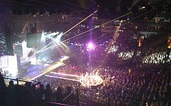 Madonna live at the Oracle Arena in Oakland, California