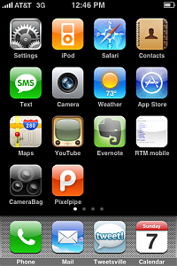 My iPhone's front page