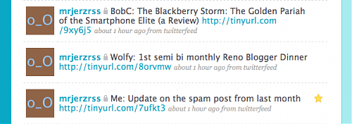 My RSS Feeds in Twitter