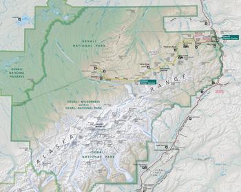 Map of Denali